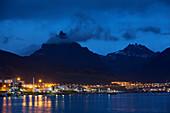 Ushuaia,Argentina at dusk