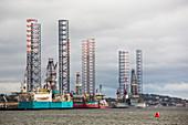Oil rigs,Dundee,UK