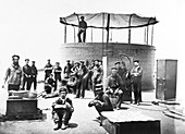 USS Monitor crew members on deck, 1862