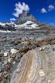 Matterhorn and variegated shists