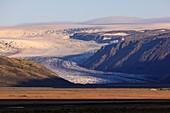 Hoffellsjoekull glacier,Iceland,at sunrise