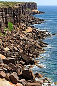 Rocky coast on Sant'Antioco Island,Italy
