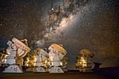 ALMA telescope array,Chile