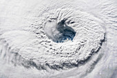Eye of Hurricane Florence,ISS image