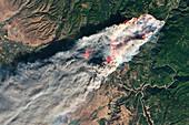 Camp Fire,California,November 2018,satellite image