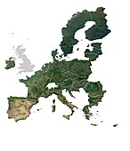 Map of the European Union after Brexit