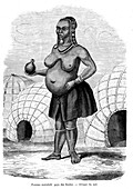 Ndebele woman,19th Century illustration