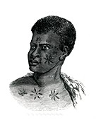 Mozambique man,19th Century illustration