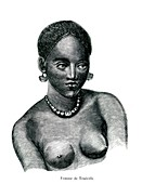 Canary Islands woman,19th Century illustration