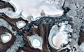 Changing ice cover in Arctic archipelago,satellite image