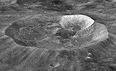 Moon's Joule T and Wargo craters,LRO image