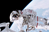 ISS space walk,2001