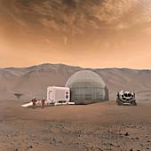 Mars Ice Home base,illustration