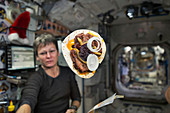 Space cheeseburger on the ISS