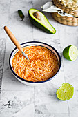 'Sopa de fideo' - Mexican spaghetti and tomato soup
