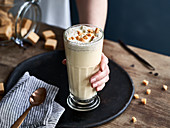 Vanilla milkshake with toffee