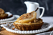 Mascarpone tart with poached pear