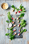 Butter dipped radishes