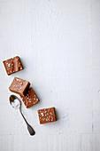 Salted caramel brownie slice