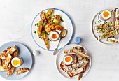 Four ways with eggs and soldiers