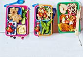Verschiedene Lunchbox-Ideen für die Schule