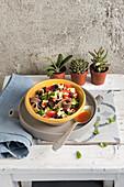 Caponata di zucchine crude (courgette and tomato salad, Italy)