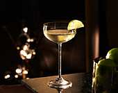 A Gimlet against a dark background