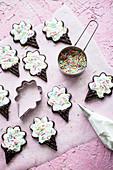 Schokoladenplätzchen in Eistütenform
