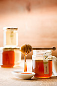Dripping chestnut honey