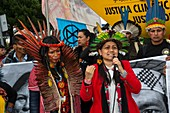 Climate and land justice activists, COP25, Madrid, 2019