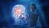 AI powered CT scan analysis,illustration
