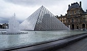 Louvre Museum pyramid.