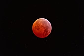 Total lunar eclipse at totality, 21st January 2019