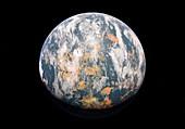 Ochre planet, illustration