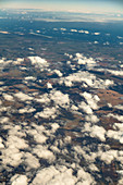 Cumulus humilis clouds from above