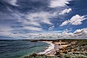 Cirrus spissatus clouds over a coastline in Australia