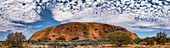Uluru and altocumulus stratiformis clouds