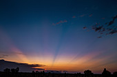 Sunset and crepuscular rays