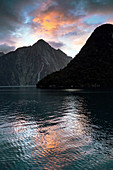 Milford Sound near sunset, New Zealand