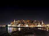 Old Jaffa Port at night, Israel
