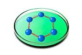 Graphene unit in petri dish, conceptual image