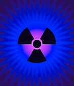 Radiation symbol and radiation, illustration