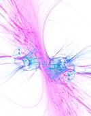 Collision abstract illustration.