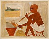 Egyptian tomb scene, illustration
