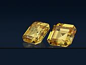 Asscher cut diamond gemstones