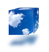 Sky cube, illustration