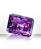 Purple rectangular gemstone