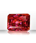 Red rectangular gemstone