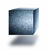 Cube made of steel, illustration