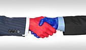 Bipartisanship, conceptual image
